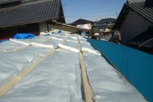 酵素風呂の屋根修復工事の画像1