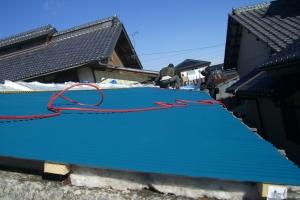 酵素風呂の屋根の修復工事の画像2